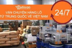 Vận chuyển hàng lô Trung Quốc- Việt Nam uy tín tại Pakago