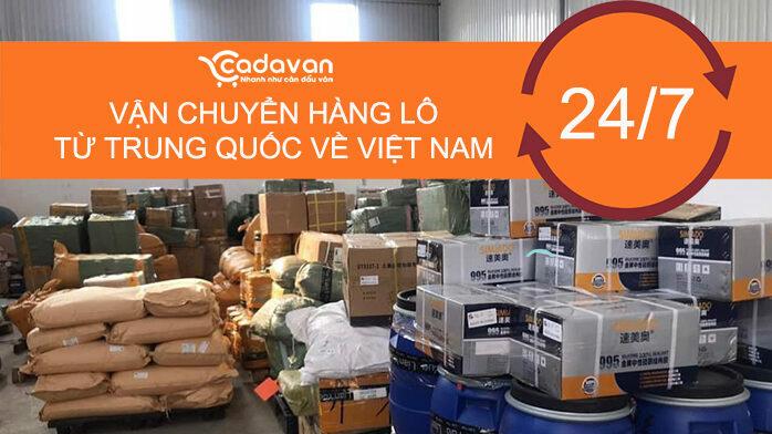 Vận chuyển hàng lô từ trung quốc về Việt Nam